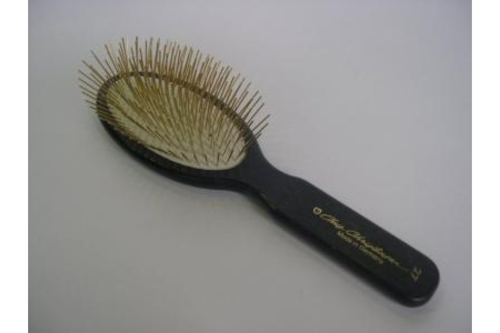 CCS 27MM OVAL GOLD PIN BRUSH