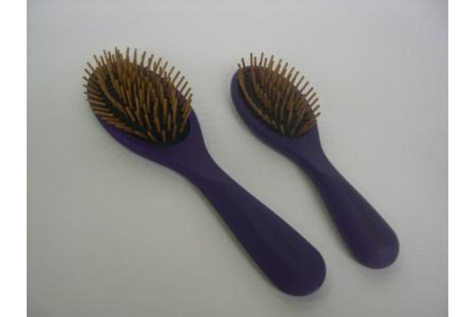 CCS WOOD PIN BRUSH SATIN FINISH